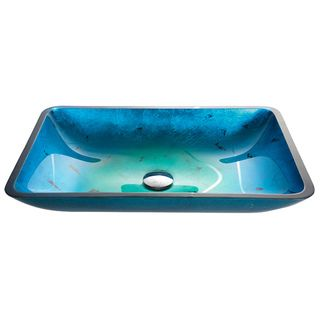 VIGO Rectangular Turquoise Water Glass Vessel Sink - 16801882 - Overstock.com Shopping - Great Deals on Vigo Bathroom Sinks