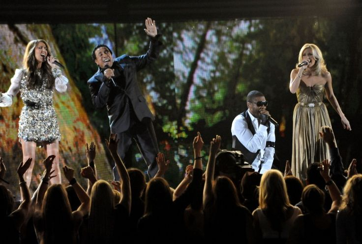 Celine Dion, Smokey Robinson, Usher, And Carrie Underwood | GRAMMY.com: Celebrity, Earth Songs, Grammi Staging, All Stars 3 D, Celine Dion, Carrie Underwood, Dion Led, 3 D Tribute, Photo