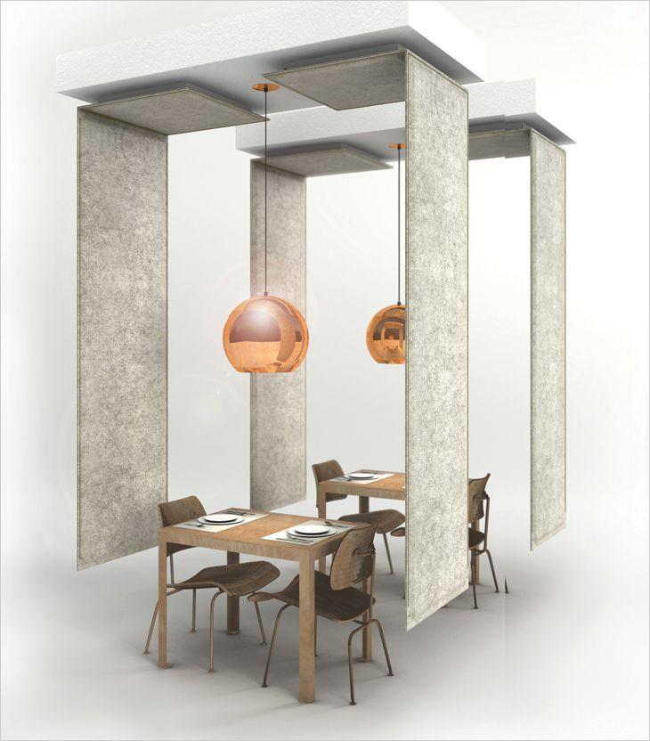 BuzziZone akustisk skillevæg og rumdeler. Acoustic partition and room devider.