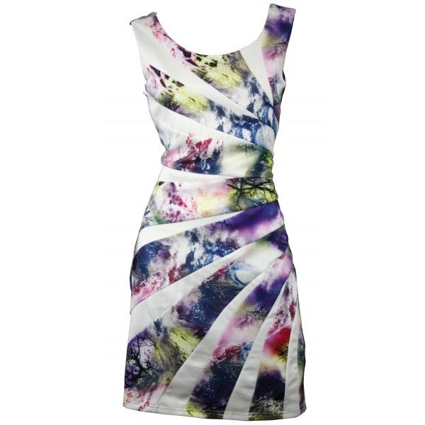 Zolly Vibrant Asymmetric Slimming Dress