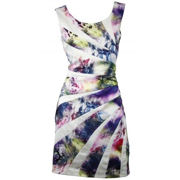 Zolly Vibrant Asymmetric Slimming Dress