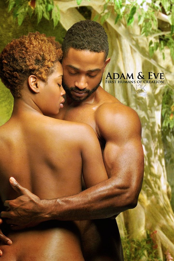 "Icons of the Bible | Adam & Eve by International Photographer James C. Lewis || makes me wonder about the ""naked and ashamed"" thing, when to this day there are people in some parts of Africa that are not ashamed of their nudity..."