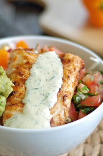 Best 25 fish taco bowls ideas on pinterest fish bowl for Whole 30 fish recipes