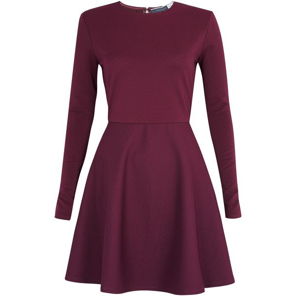 Sportmax Code Austria Skater Long Sleeve Dress (€140) found on Polyvore