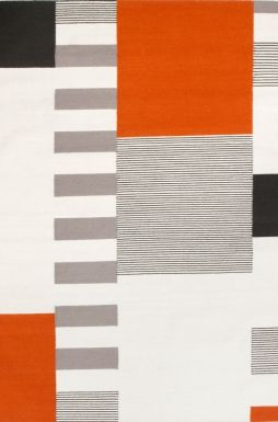 Graphic Orange carpet by Linie Design