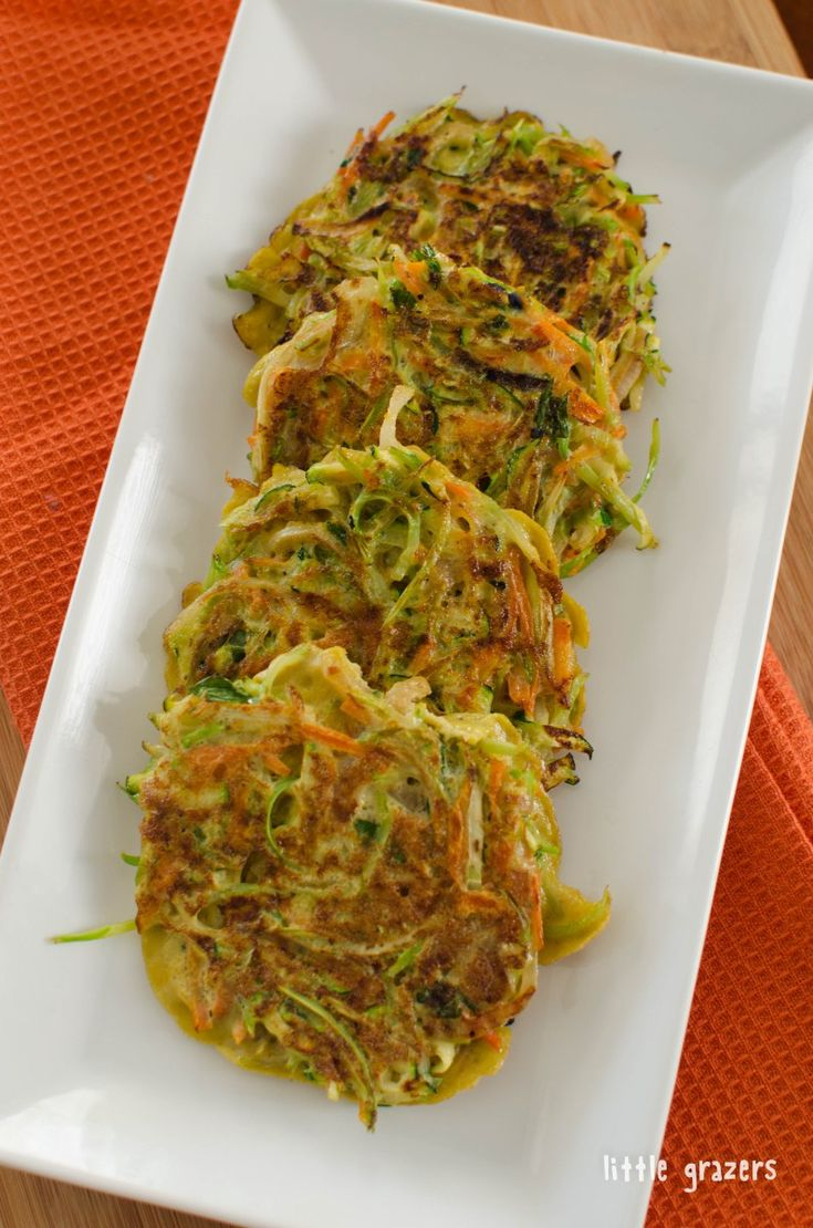 Vegetable Fritters made with Broccoli Cole Slaw http://littlegrazers.com/vegetable-fritters/