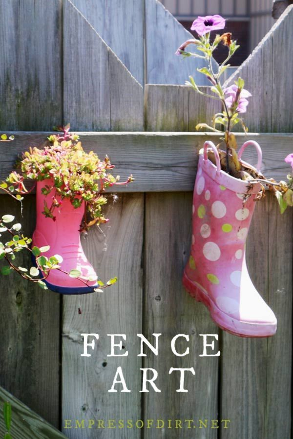 24 Creative Ideas For Garden Fence Wall Decor Garden Fence Art