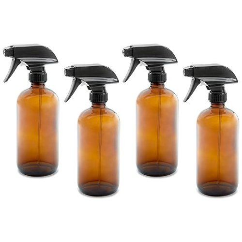 087271ba6dc5 16oz Empty Amber Dark Brown Glass Spray Bottles w/ Labels and Caps ...