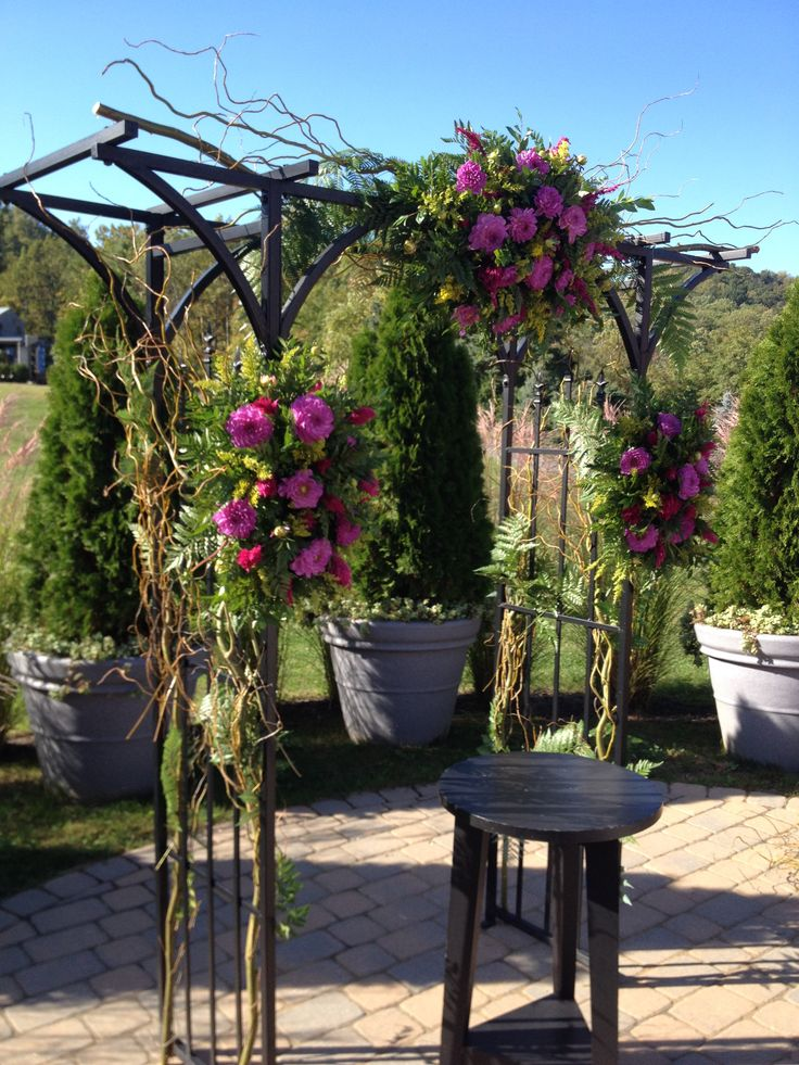 Fall Wedding Arbor- Rustic Wildflowers | Wedding and Event ...