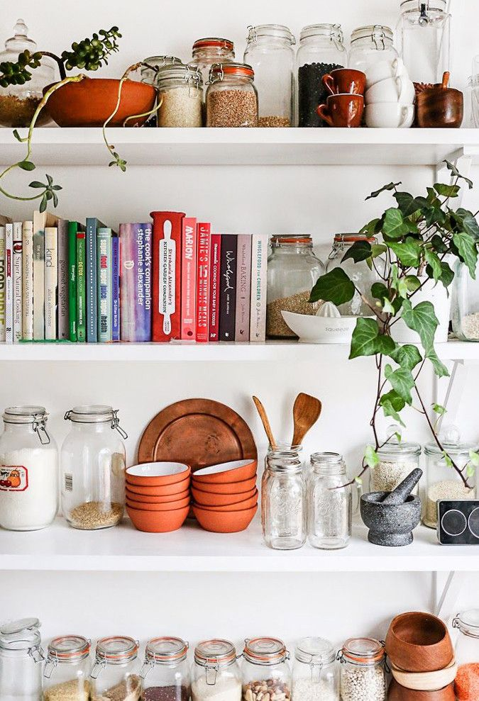 Kitchen Storage: Jars on Shelves | For more ideas, click the picture or visit www.thedebrief.co.uk