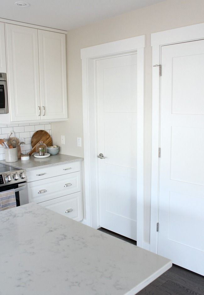Shaker Style Trim And Doors The Makeover Details White Doors Kitchen Doors Shaker Style