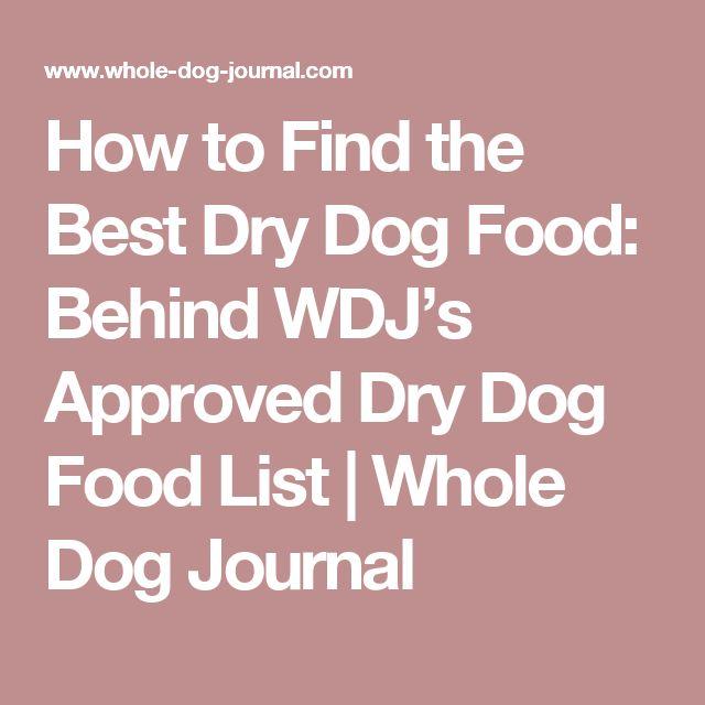Wdj Dog Food List