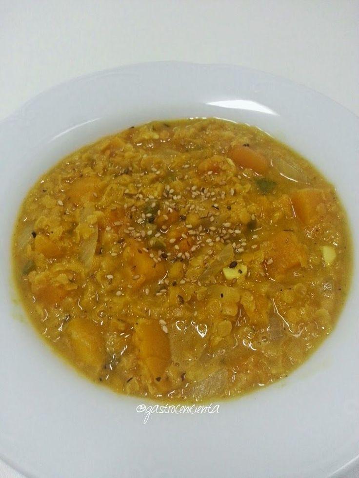 Guiso Especiado de Lentejas Rojas con Calabaza | Gastrocenicienta