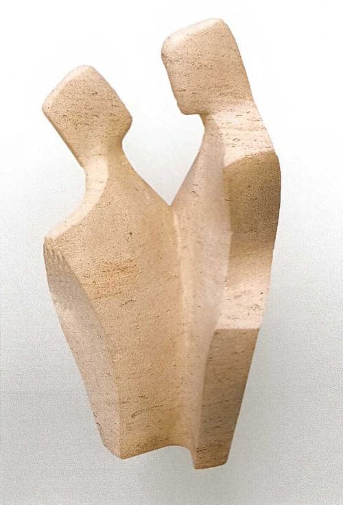 Ancaster stone Modern Abstract or Statues #sculpture by #sculptor John Brown titled: '`Paso Doble` Sculpture by John Brown' #art