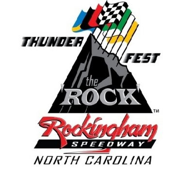 """NASCAR returns to """"The Rock"""" (Rockingham Speedway, Rockingham NC, Richmond County). April 12-15, 2012. Weekend-long event, including ThunderFest and The Camping World Truck Series! Get your tickets today!"""