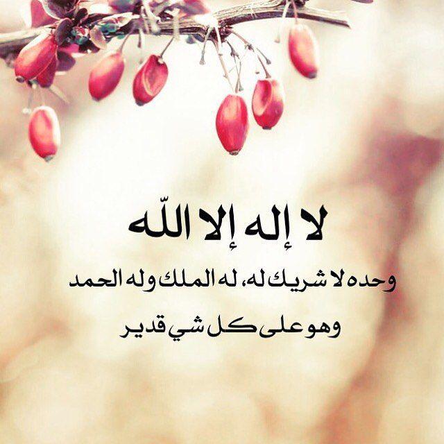 لا إله إلا الله وحده لا شريك له له الملك وله الحمد وهو على كل شي Arabic Calligraphy Art Islamic Pictures Calligraphy Art