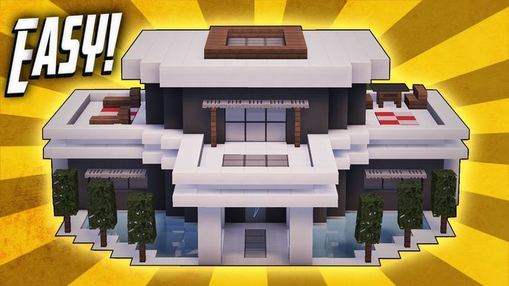 760 best minecraft images on pinterest minecraft ideas for Big modern house tutorial