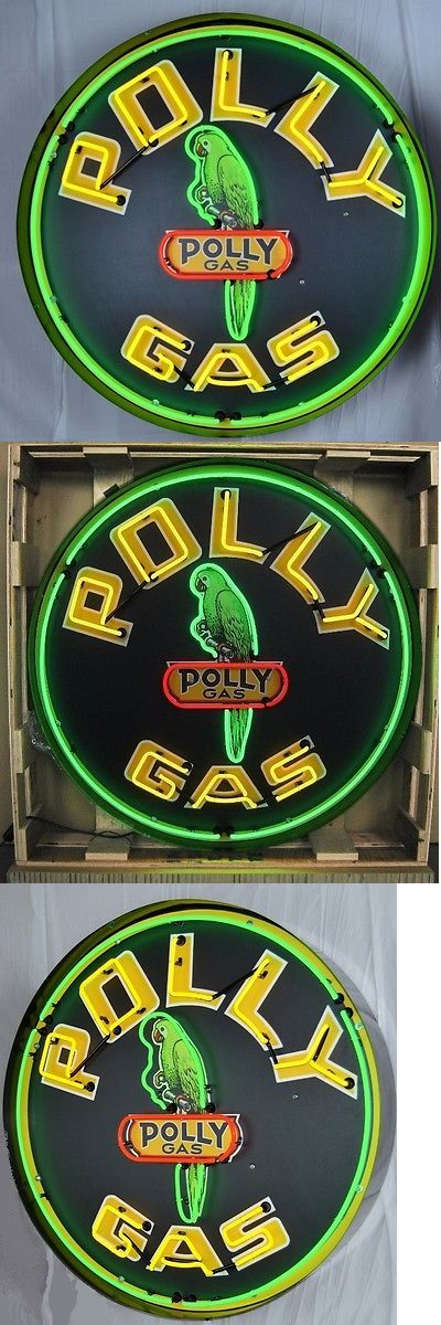 Posters and Signs 75190: Giant Polly Gas 3 Ft. 36 Round Neon Sign 9Gsply W Free Shipping -> BUY IT NOW ONLY: $985 on eBay!