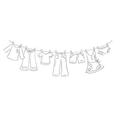 Free Digital Stamp of a clothesline - there are multiple ways it could be used (embroidery, scrapbooking, etc.)