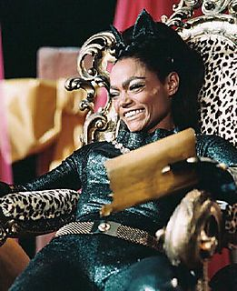 Eartha Kitt as Catwoman. I. Love. Her. she was my favorite catwoman, no one could do the persona as well as she did (sorry Halle and Michelle).