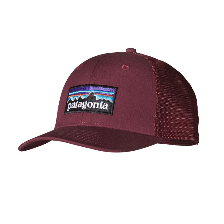 The Patagonia P6 Trucker Hat gives a contemporary nod to Patagonia's roots with a classic logo design featured on a high-crown, trucker style hat.