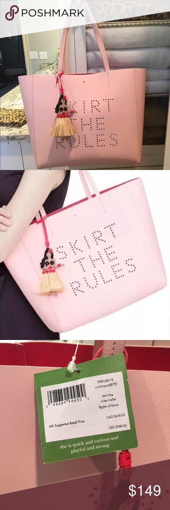 New Kate Spade skirt the rules handbag/tote New with tags pink skirt the rules Kate spade. Comes with dust bag. kate spade Bags Totes