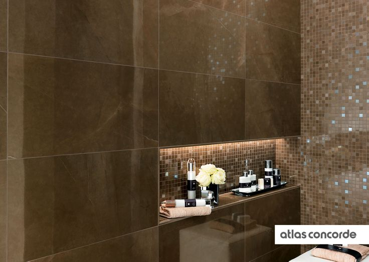 #MARVEL bronze | #Mosaic | #Wall design | #AtlasConcorde | #Tiles | #Ceramic