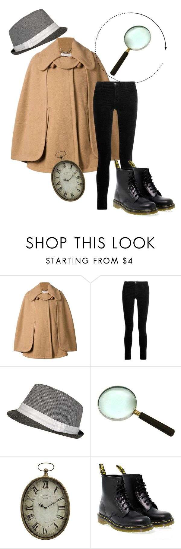 """""""DIY detective costume"""" by romanaroundski1 ❤ liked on Polyvore featuring Chloé, J Brand, Home Decorators Collection and Dr. Martens"""
