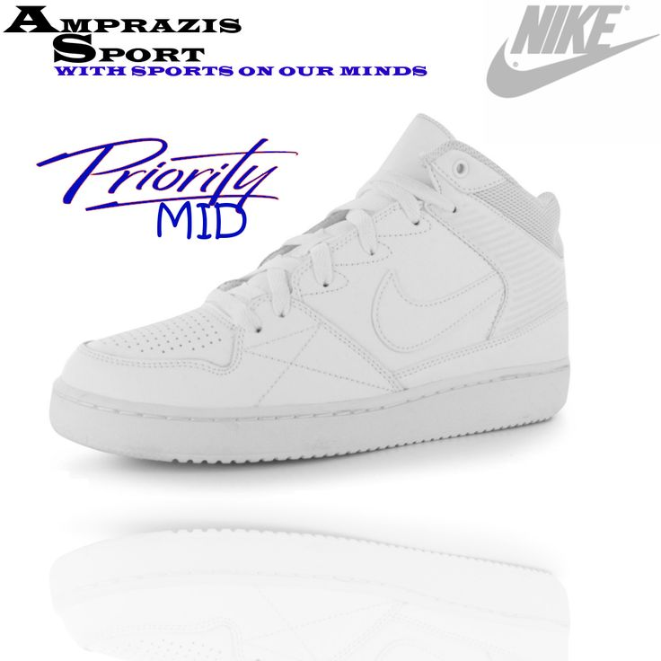 Nike Priority Mid. Absolute white. DanceBeautifulTrainersSneakersNikeMenTennis  ...
