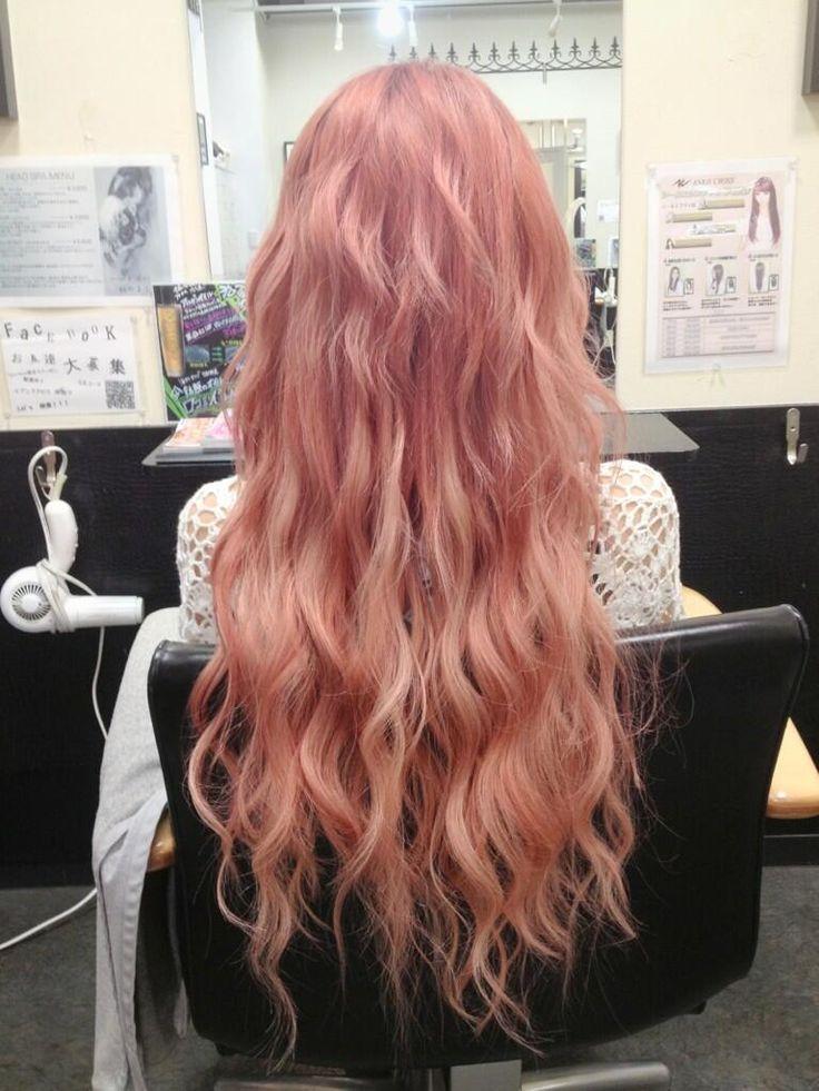 Japanese hair | red | gyaru | wavy