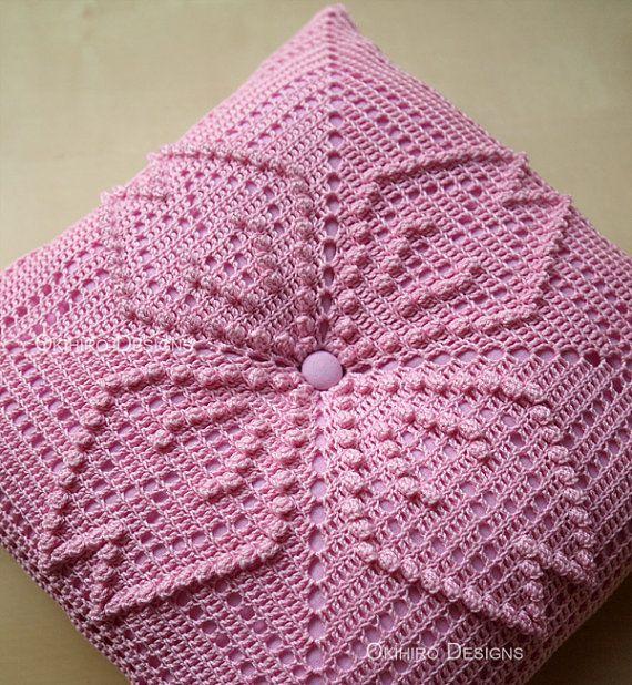 Copetudo Cornejo patrón 12 Crochet cuadrados por okihirodesigns