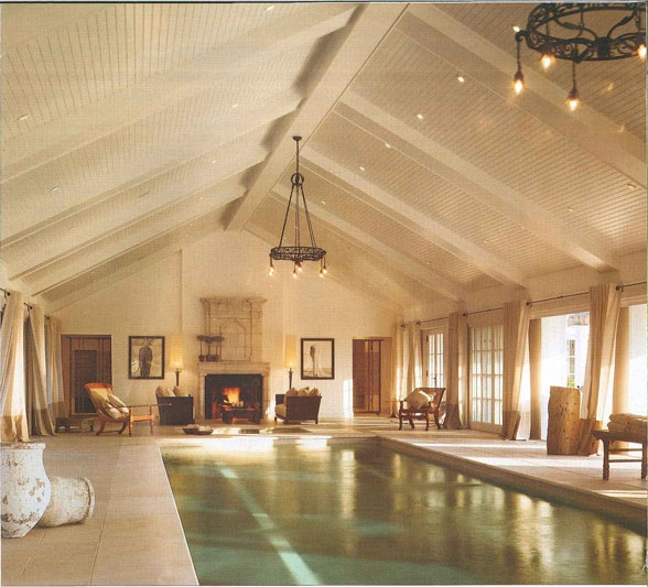 Indoor Swimming Pool With Tongue And Groove Vaulted