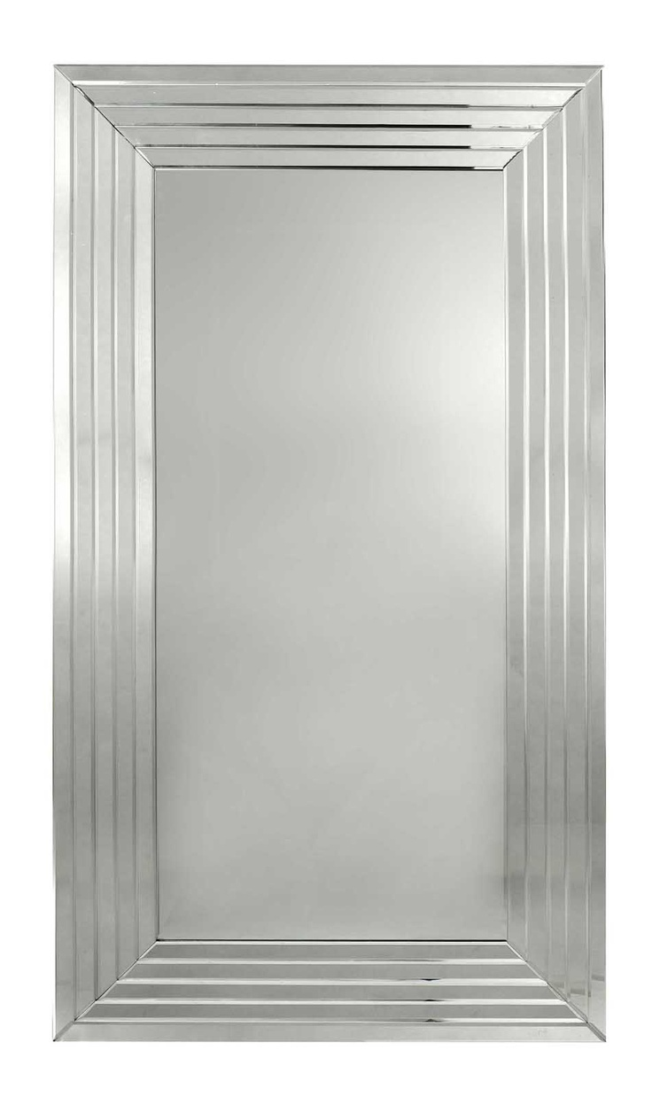 Williams sonoma home five panel beveled mirror - D Elegance Mirror Features A Series Of 5 Inverse Mirrored Bevelled Panels