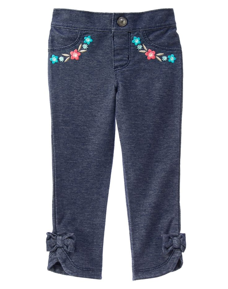 Floral Trim Jeggings at Gymboree