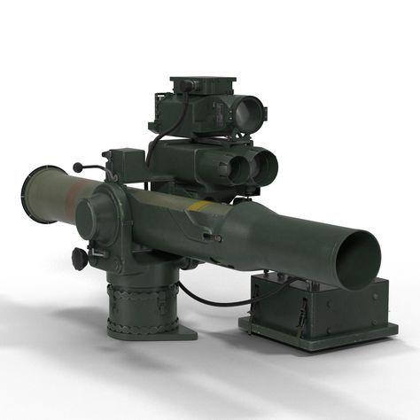 bgm 71 tow missile 3d c4d