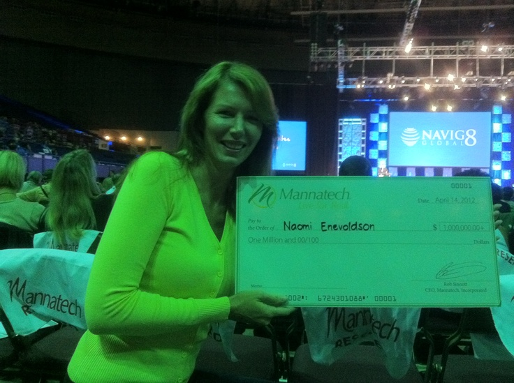 Mannafest April 2012 Fort Worth, Texas. My name on the Million dollar cheque...it will be for real one day!