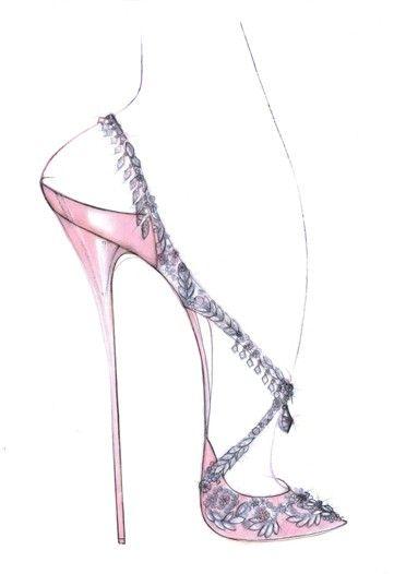 Designs Fit for a Princess - gorgeous SHOE sketch