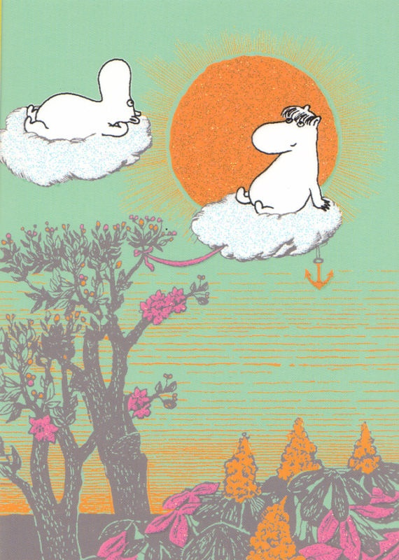 moomin postcard in the sun