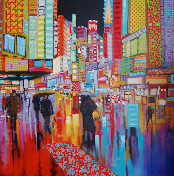 """""""Dancing Lights on the City Streets"""" The title says it all. In the middle of the action watching the reflections of the lights on the pavement cities are so energetic! www.sheilakernan.com"""
