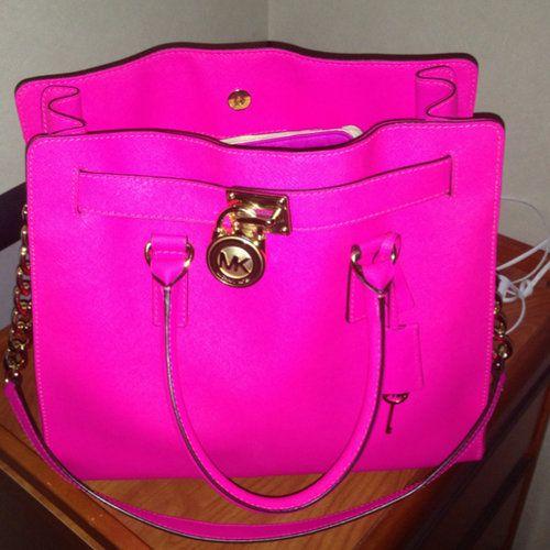 Michael Kors Hot Pink Tote Bag