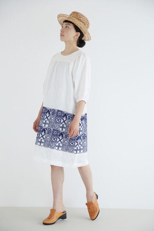 Mina forest tile dress
