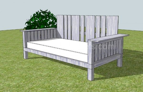Outdoor Daybed Made From Pallets Reclaimed Wood Furniture Pallets And Patio