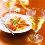 Homard au beurre d'orange et un riesling Grand Cru Rangen de Thann 2005