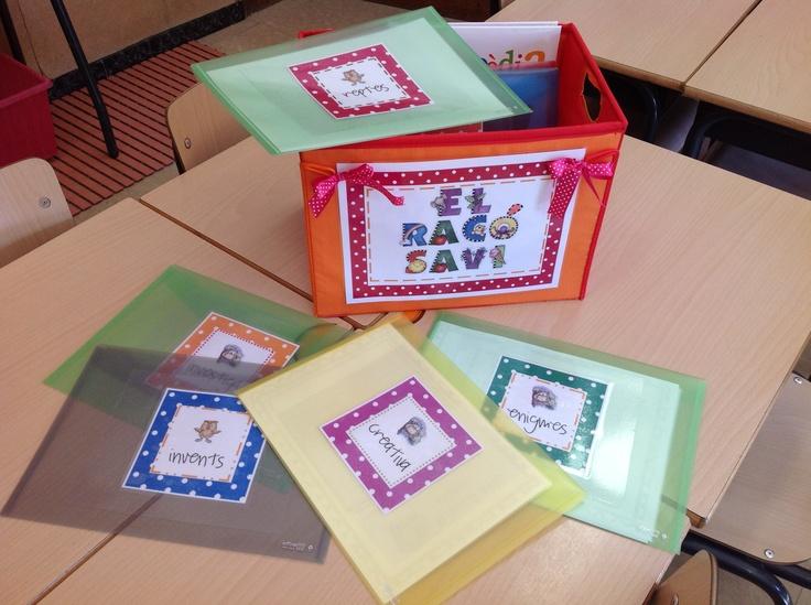 El Racó Savi: amb carpetes d'ampliació pels nens que volen saber més!