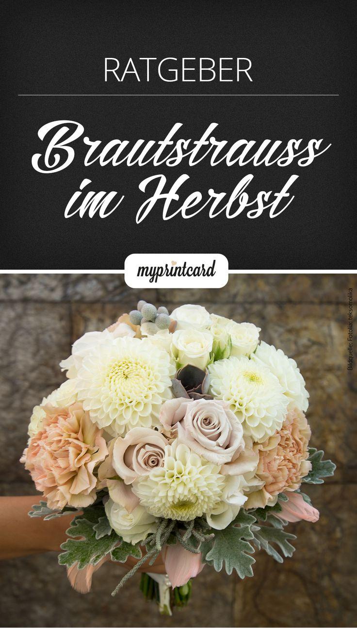 Welche Blumen haben im Herbst Saison und eignen sich perfekt für den Brautstrauß? Im Hochzeitsmagazin lüften wir das Geheimnis.  #blumen #blüten #infografik #hochzeit #braut #brautstrauss #brautstrauß #heiraten #deko #hochzeitsdeko #dekoration #ratgeber #herbst #saisonal