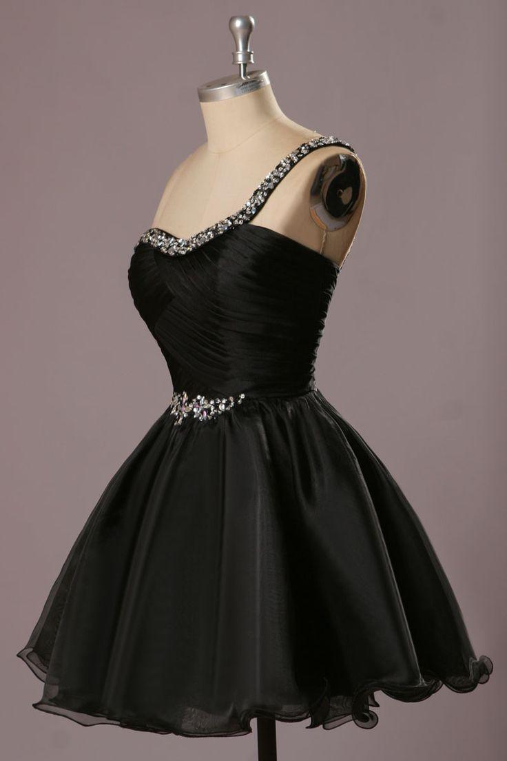 Réel Made noir Cockatil robes 2015 robes de Festa pas cher robe de bal une épaule robes de Graduation pour les adolescents dans Robes de bal de fin d'année de Mariages et événements sur AliExpress.com | Alibaba Group