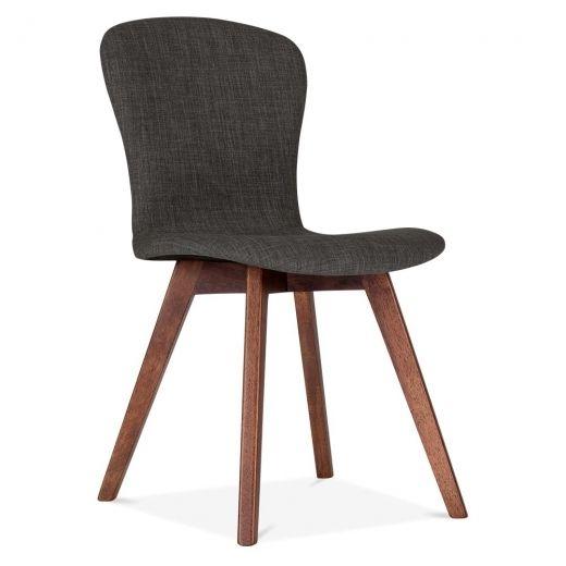 Cult Living Hudson Upholstered Dining Chair in Dark Grey | Cult UK