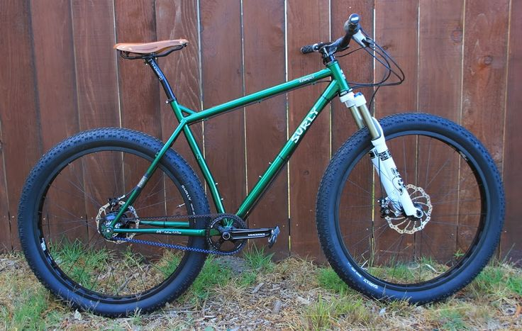 The Monkey Lab: Surly Krampus 29+ Mountain Bike with Suspension Fork, Rohloff SPEEDHUB500/14, and Gates Belt Drive