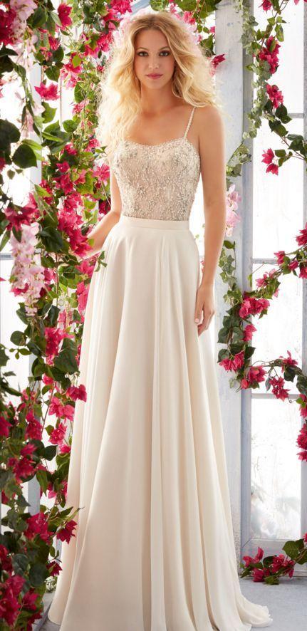 Mori Lee two piece wedding dress - Deer Pearl Flowers / http://www.deerpearlflowers.com/wedding-dress-inspiration/mori-lee-two-piece-wedding-dress/