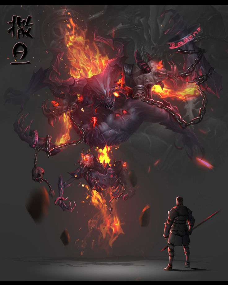 Demon Concept, Zhouli Tan on ArtStation at https://www.artstation.com/artwork/YVomq